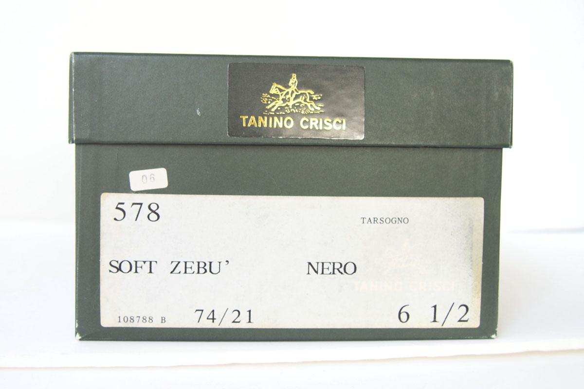 タニノクリスチ|TANINO CRISTI|編み込みデザイン レザーローファー|6.5|ブラックイメージ010