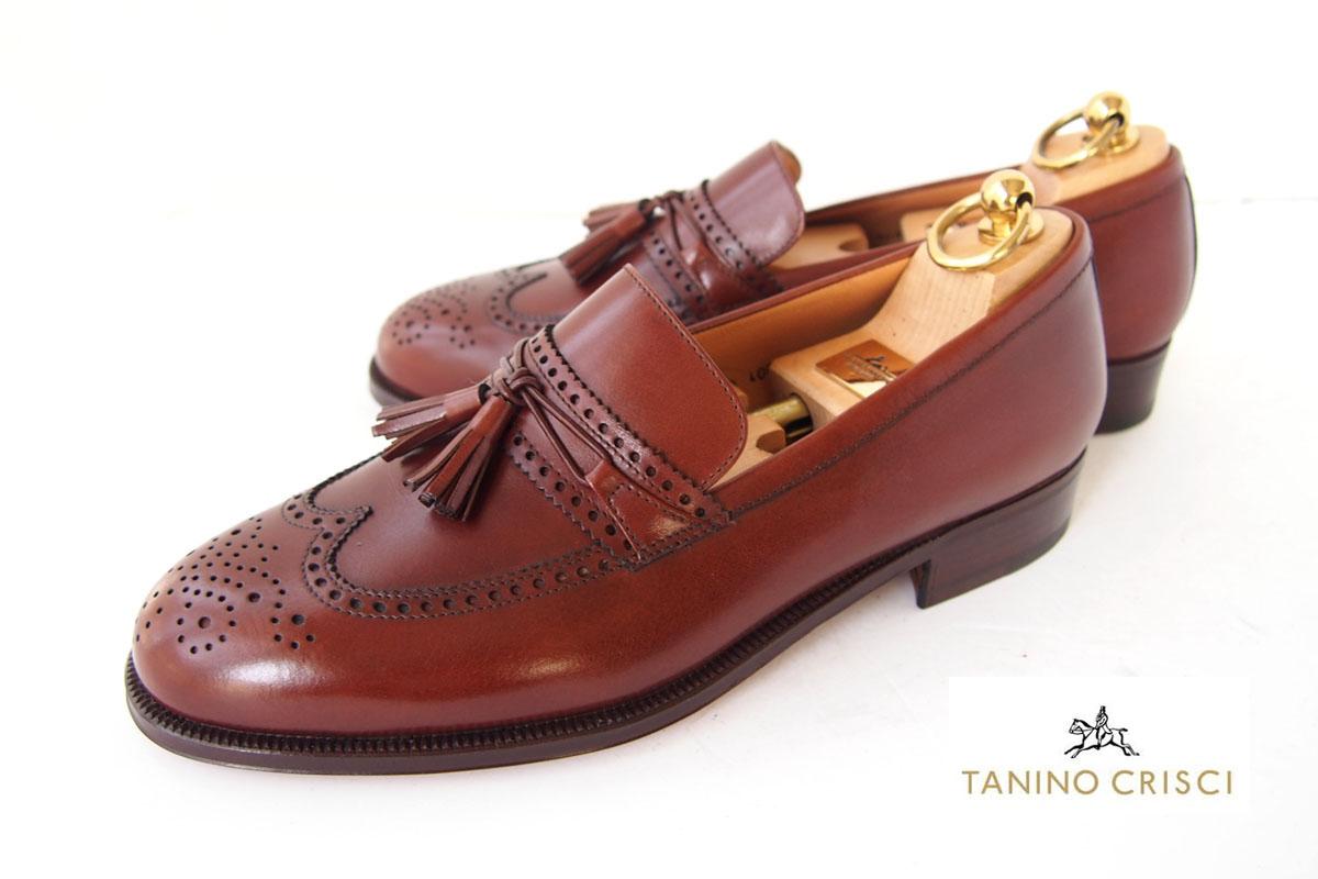 タニノクリスチ|TANINO CRISTI|タッセルローファー|6.5|ブラウンイメージ01