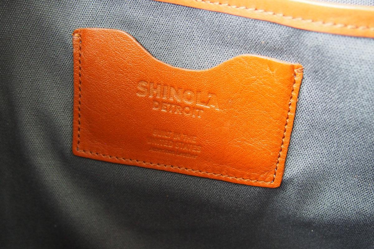 シャイノラ shinola ホーウィン社製レザー使用スリムブリーフケース ブラウンイメージ08