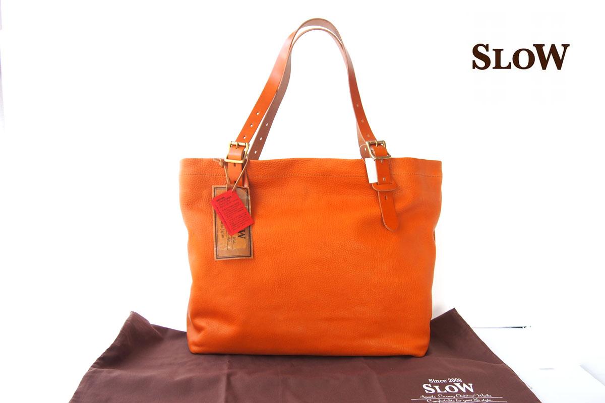 スロウ|SLOW|レザートートバッグ|キャメル|栃木レザーイメージ01