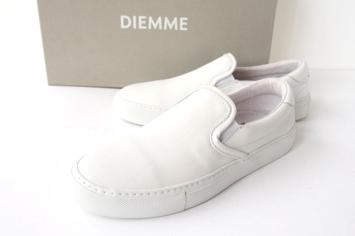 ディエッメ|DIEMME|レザースリッポンスニーカー|ガルダ|GARDA|39|WHITE NAPPAイメージ01