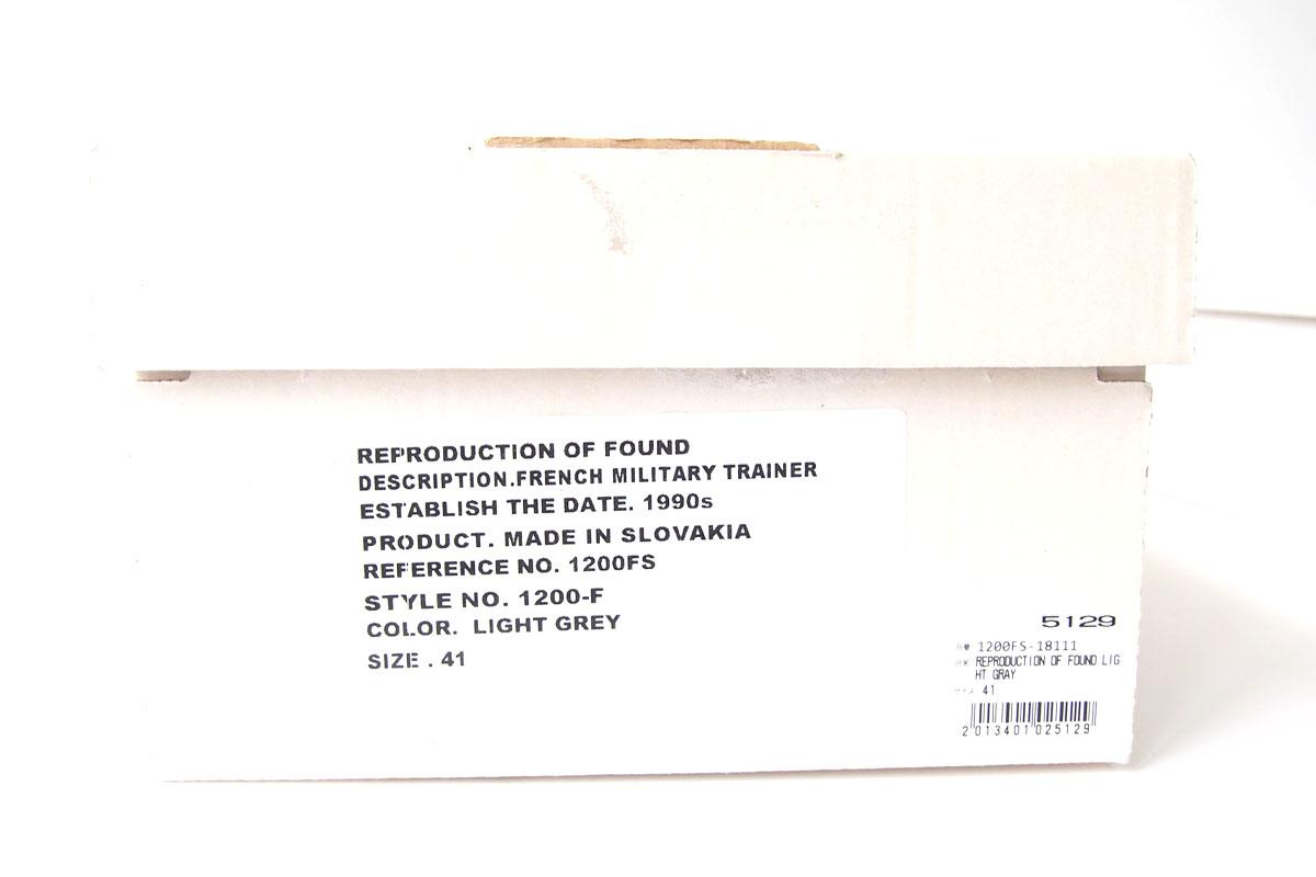 リプロダクションオブファウンド|REPRODUCTION OF FOUND|フレンチミリタリートレーナー|1200-F|ライトグレイイメージ08