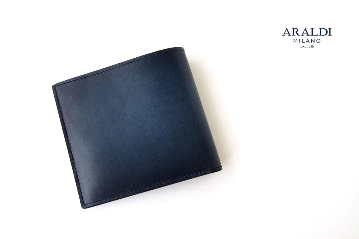 アラルディ ARALDI 1930 二つ折り財布 ウォレット TURCHESE ブルー AR B P293イメージ01