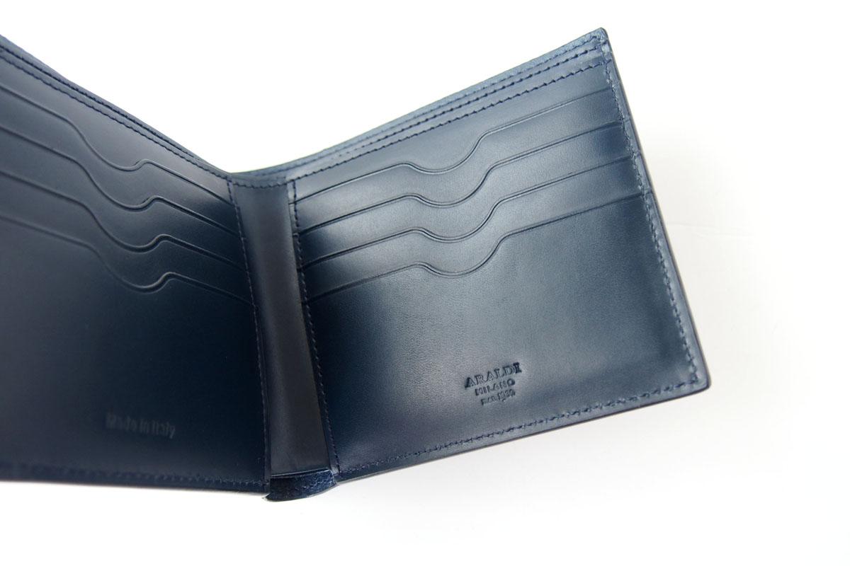 アラルディ ARALDI 1930 二つ折り財布 ウォレット TURCHESE ブルー AR B P293イメージ04