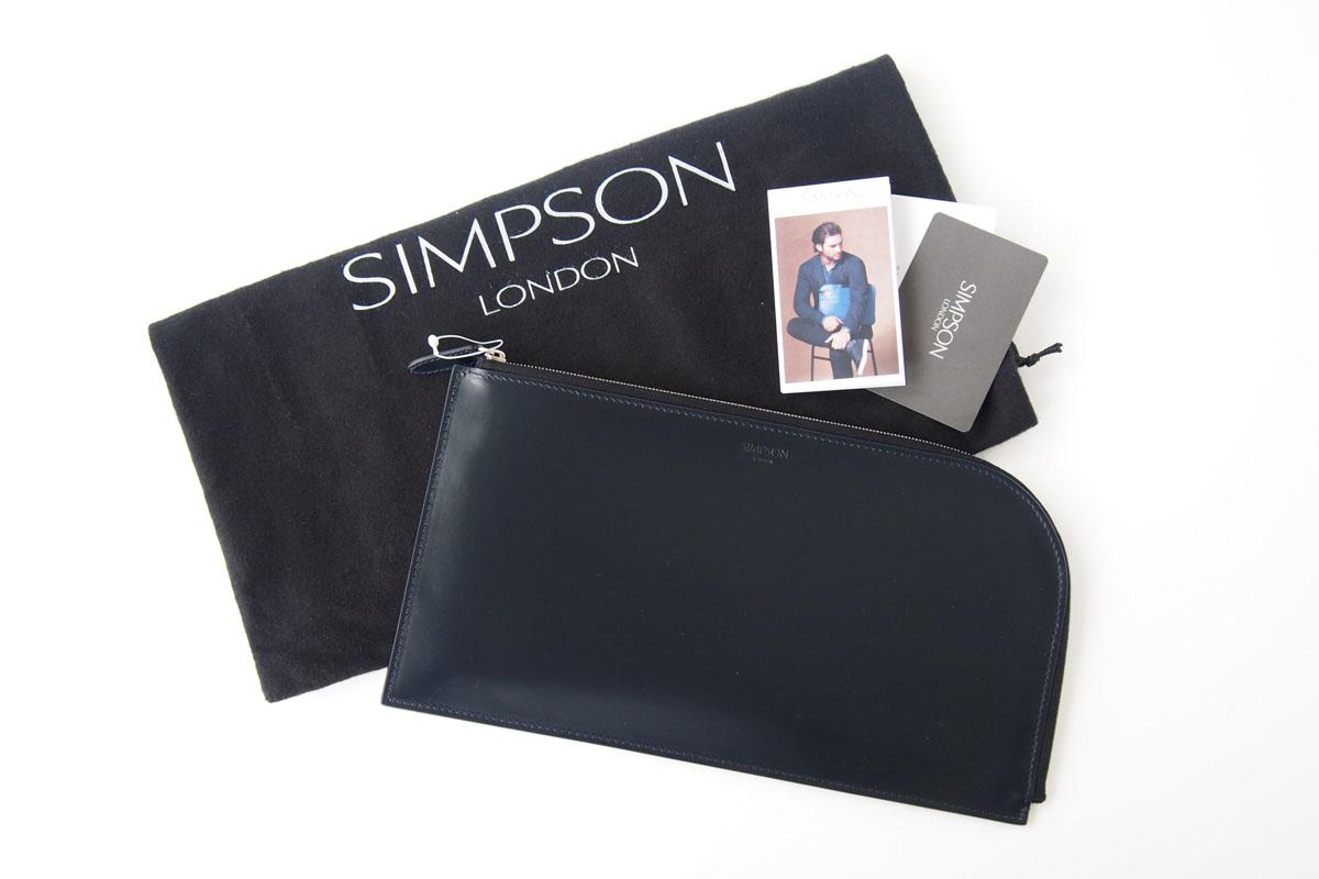 シンプソンロンドン|SIMPSON LONDON|ロンドン クラッチバッグ|ラウンドジップポーチ|ブライドルレザー|ネイビーイメージ010