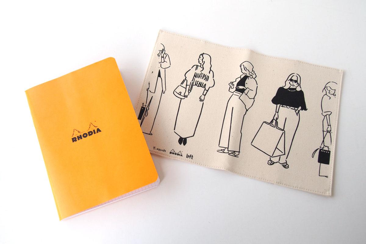 ロディア|RHODIA|ロフト限定 RHODIA×Yu Nagaba|ロディアA5ノート&カバー|ガールズ ナチュラルイメージ07