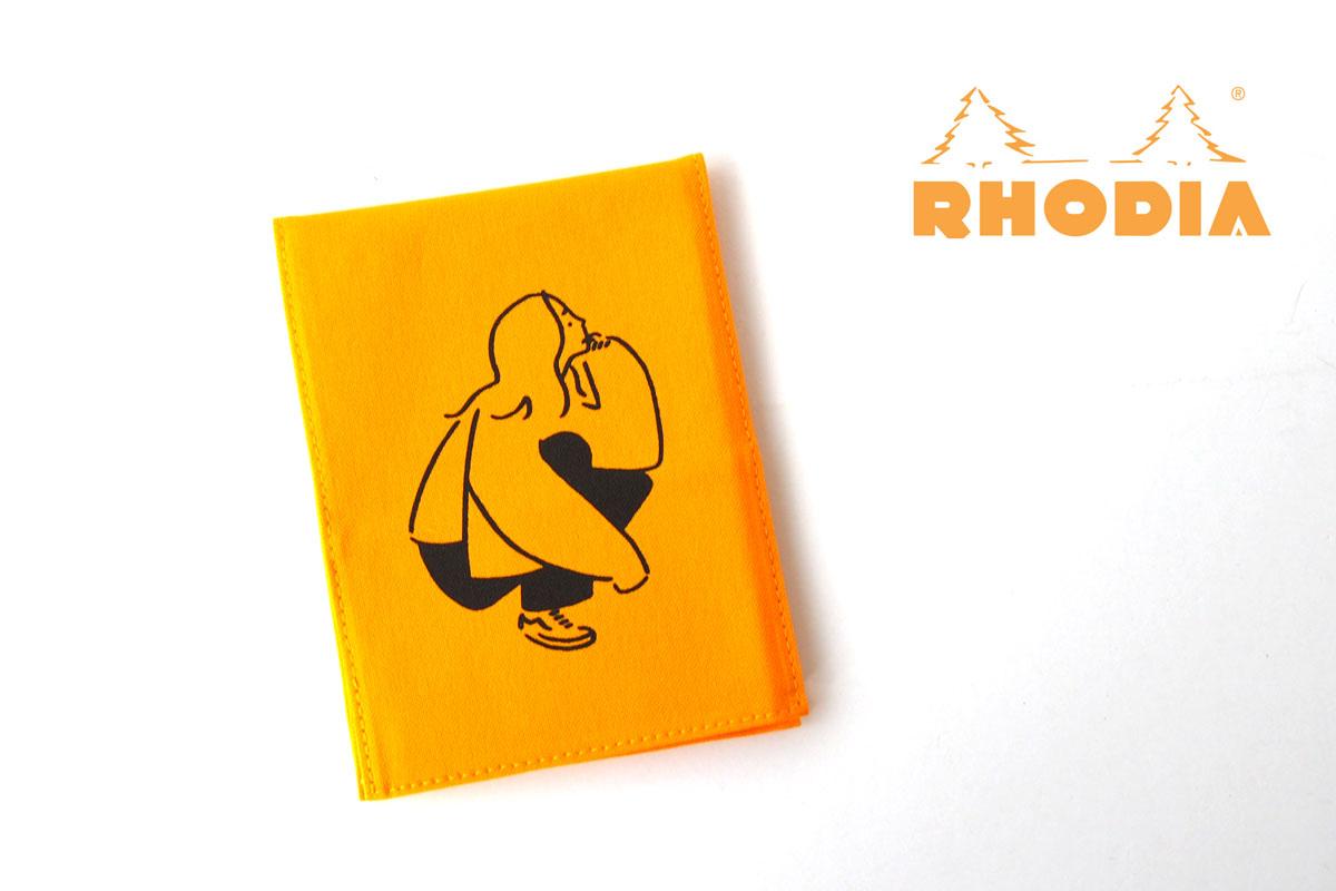 ロディア|RHODIA|ロフト限定 RHODIA×Yu Nagaba|ブロックロディアNo.13&カバー|イエロー(ガール)イメージ01