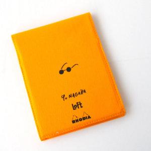 ロディア|RHODIA|ロフト限定 RHODIA×Yu Nagaba|ブロックロディアNo.13&カバー|イエロー(ガール)イメージ03