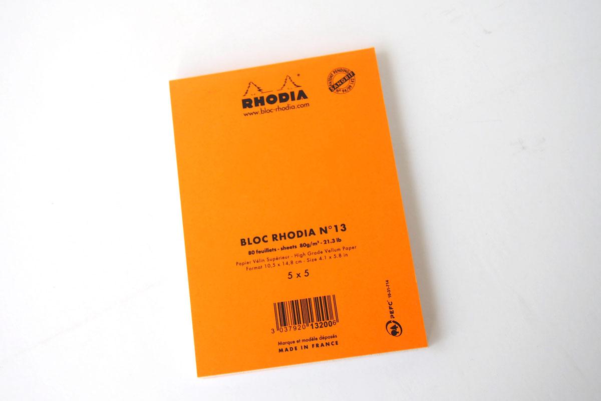 ロディア|RHODIA|ロフト限定 RHODIA×Yu Nagaba|ブロックロディアNo.13&カバー|イエロー(ガール)イメージ07