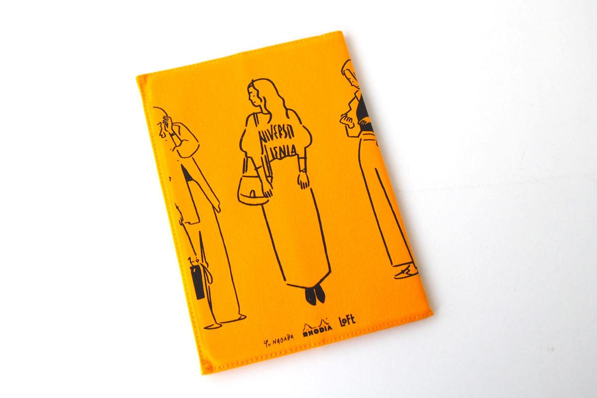 ロディア|RHODIA|ロフト限定 RHODIA×Yu Nagaba|ロディアA5ノート&カバー|ガールズ イエローイメージ02