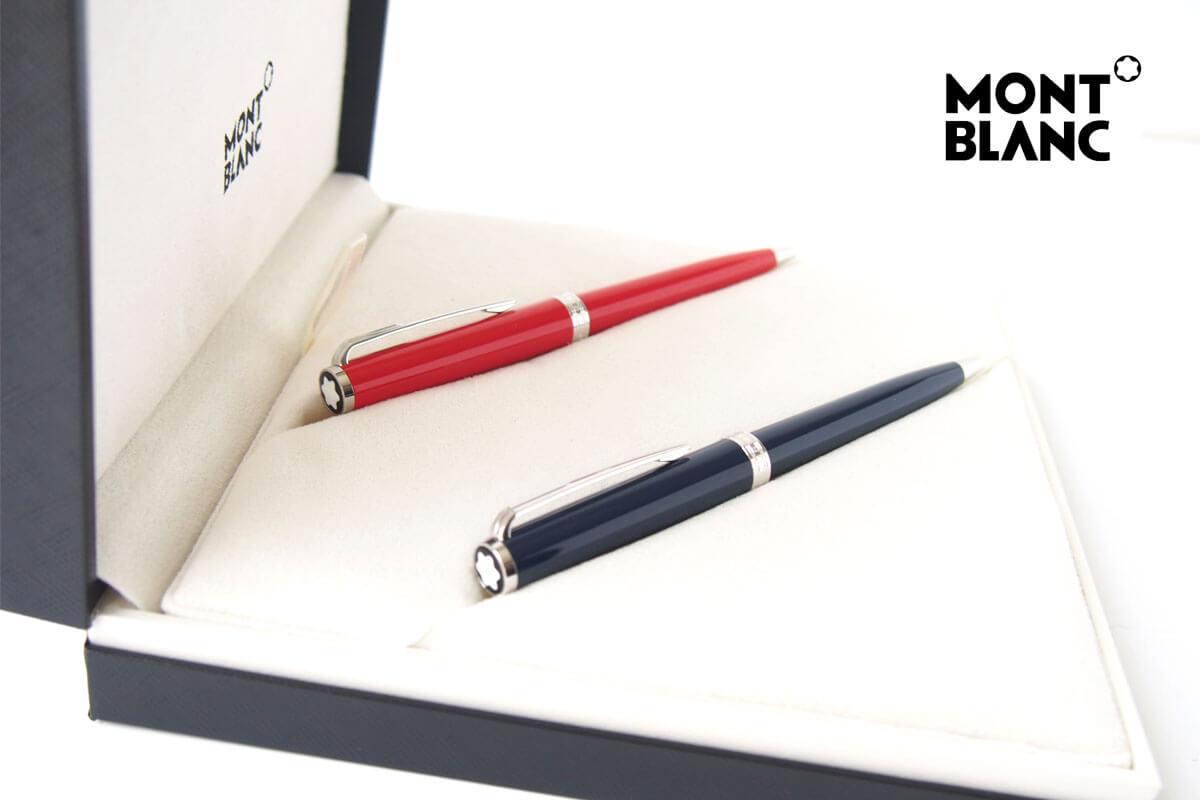 モンブラン|MONTBLANC|PIXドイツ製ボールペン2本セット|PIX BLUE BALLPOINT PEN & RED  BLUE BALLPOINT PEN01