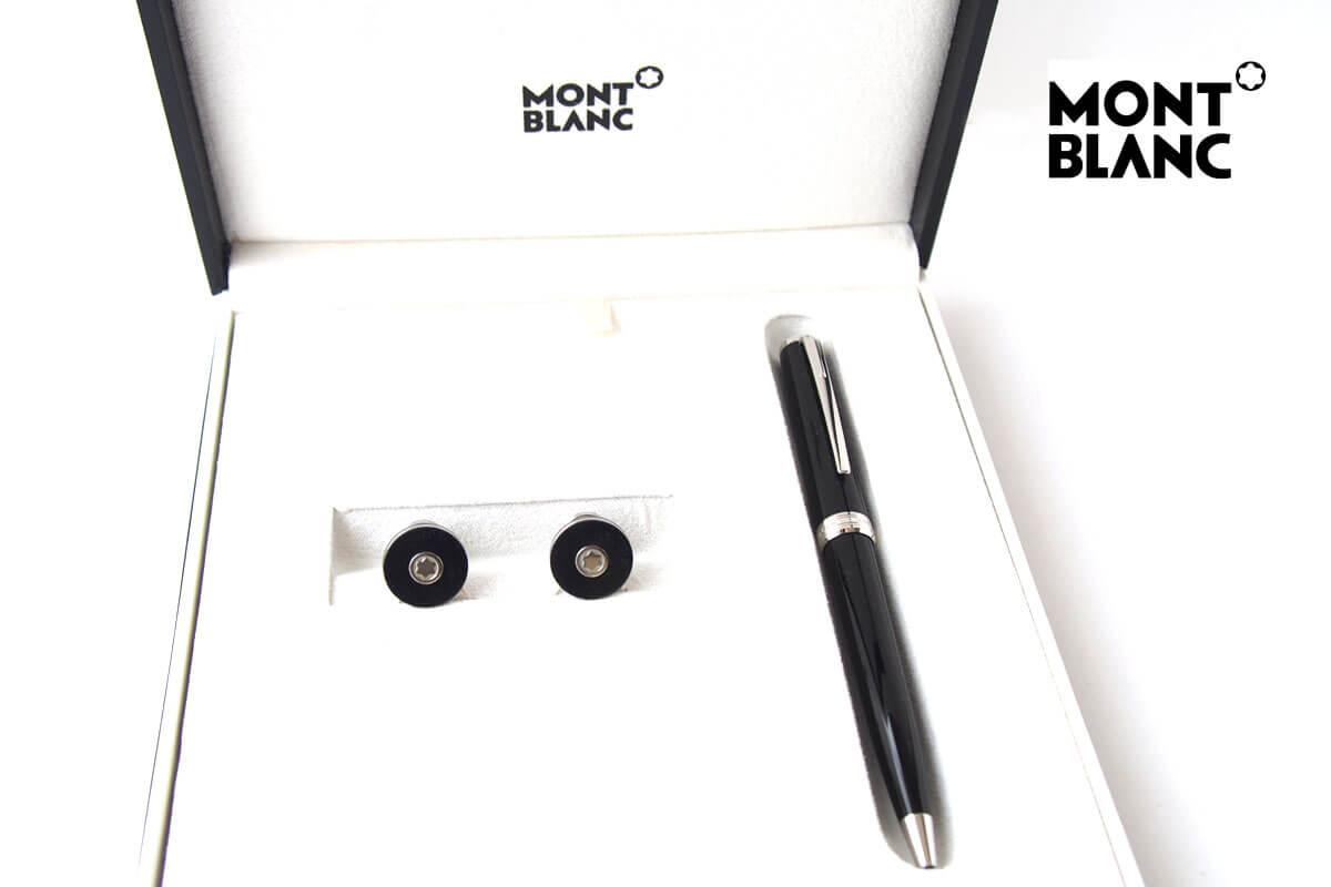 モンブラン|MONTBLANC|PIXドイツ製ボールペン×カフリンクスセット|メンズアクセサリーPIXセットイメージ01