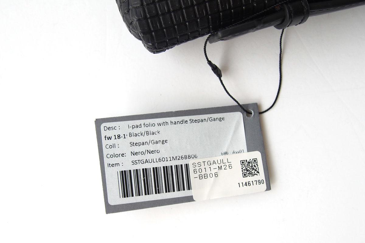 セラピアンミラノ|Serapian Milano|ハンドル付きクラッチバッグ|タブレットケース|PVC|ブラックイメージ08