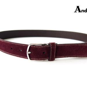 アンダーソンズ|Anderson's|スエードレザーベルト|85|ボルドーイメージ01