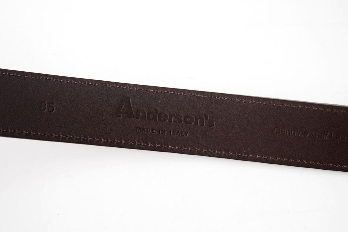 アンダーソンズ|Anderson's|スエードレザーベルト|85|ボルドーイメージ05