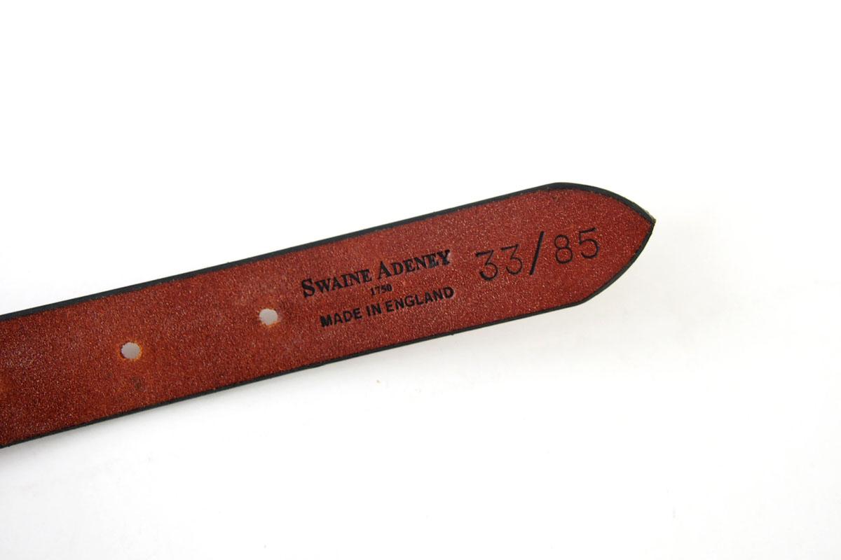 スウェイン・アドニー|Swaine Adeney|ブライドルレザー編み込みベルト(ライトブラウン|チェスナット)|33/85イメージ04
