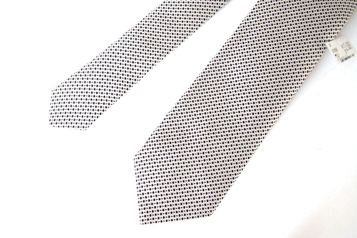 ルイジボレッリ|LUIGI BORRELLI|ドット柄シルクネクタイ|ホワイト×グリーン×レッドイメージ07