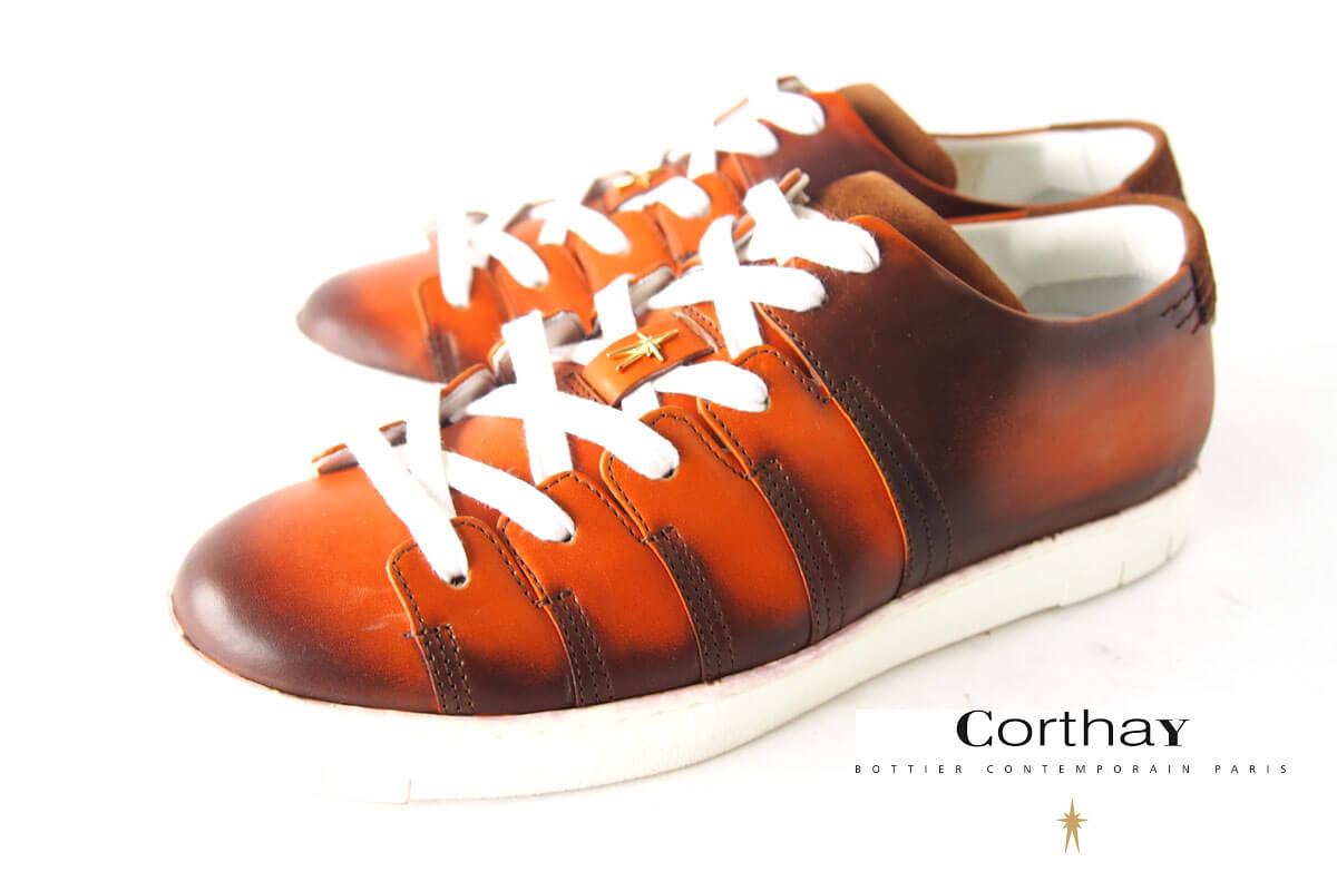 コルテ|Corthay|スニーカー|90's|ブラウン|5イメージ01