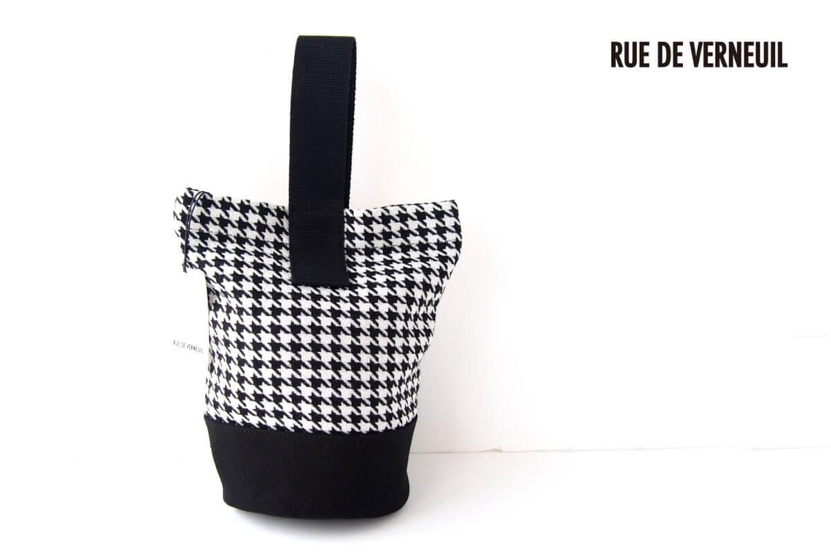 リュ ドゥ ヴェルヌイユ|RUE DE VERNEUIL|バケットバッグ|ハウンドトゥース柄イメージ01