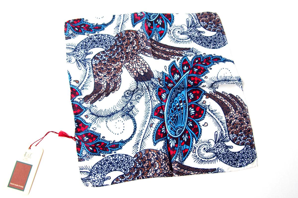 アーディアンドシー|AD&C|シルク ポケットチーフ(ブルー×ホワイト)イメージ05