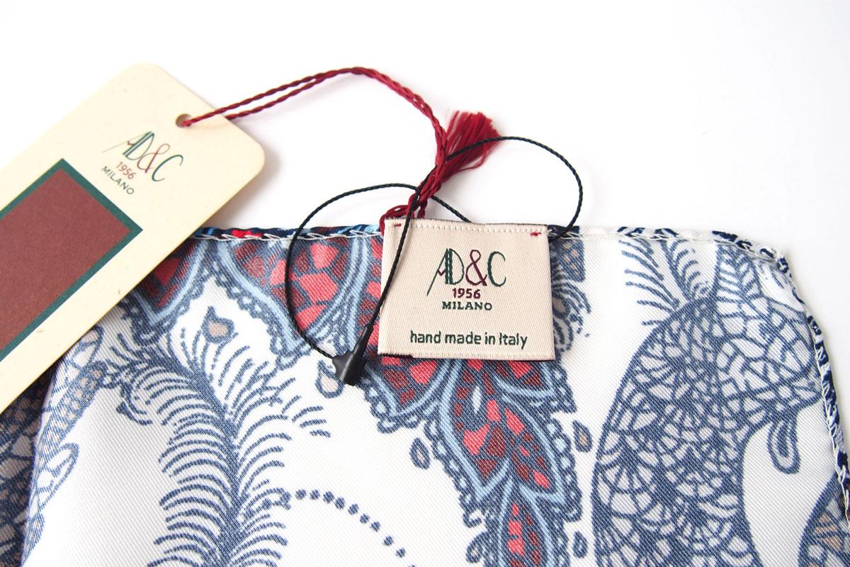 アーディアンドシー|AD&C|シルク ポケットチーフ(ブルー×ホワイト)イメージ08