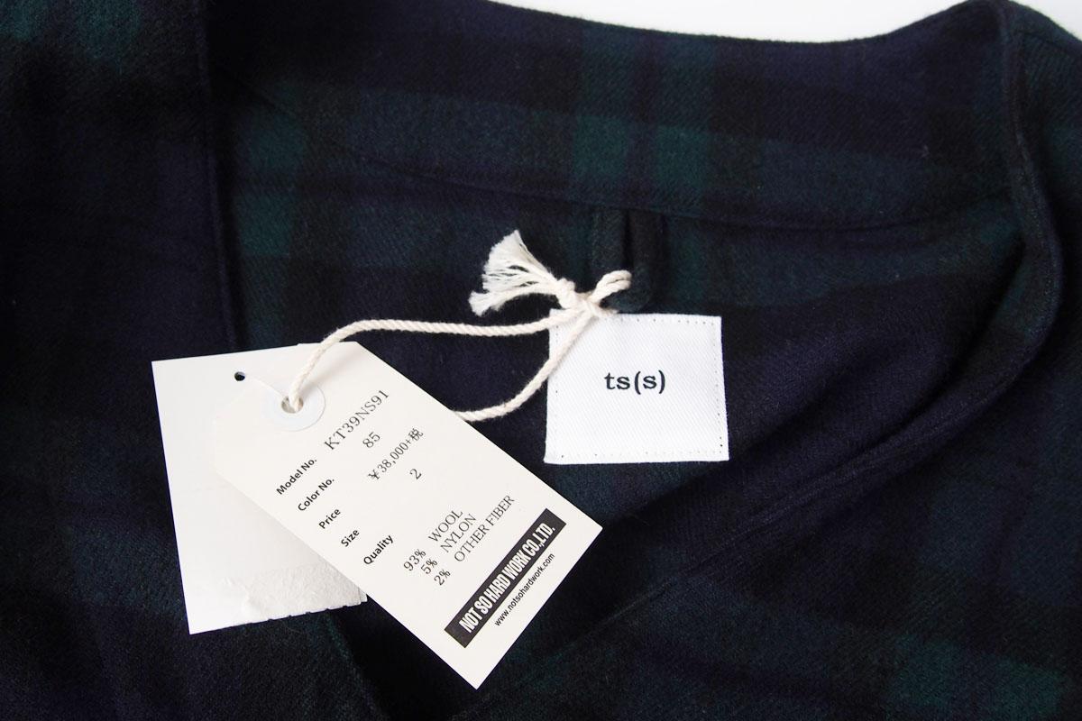 ティーエスエス|ts(s)|イセタンメンズ別注ブラックウォッチ柄ウールジャケット|2イメージ06