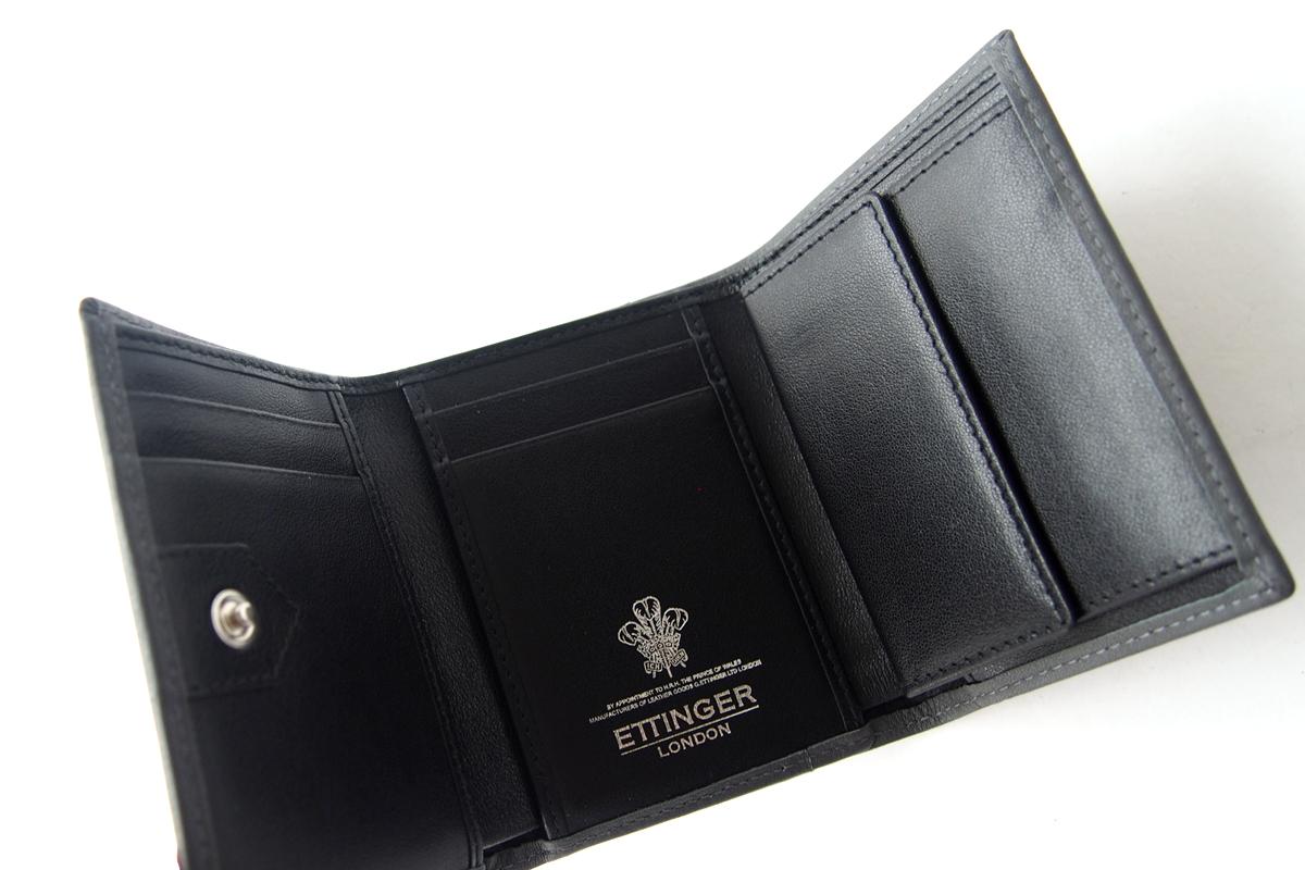 エッティンガー|ETTINGER|三つ折り財布|グレイ×ブラックイメージ06