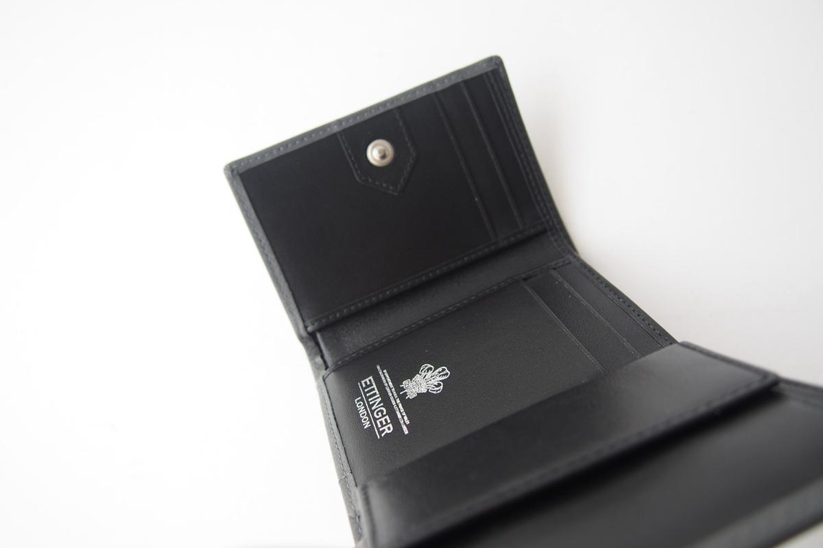 エッティンガー|ETTINGER|三つ折り財布|グレイ×ブラックイメージ07