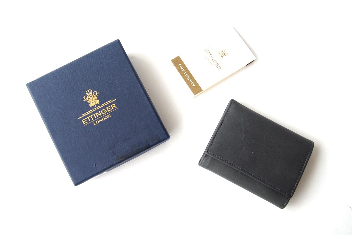 エッティンガー|ETTINGER|三つ折り財布|グレイ×ブラックイメージ09