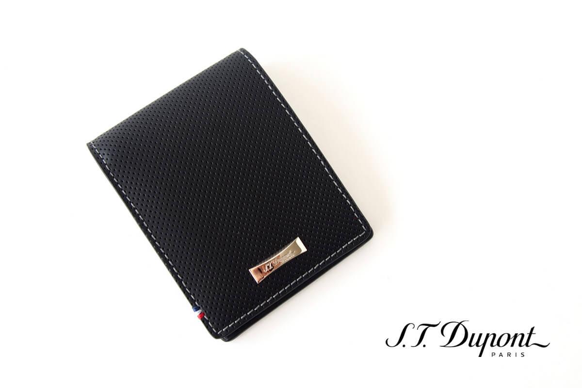 エス・テー・デュポン|S.T. Dupont|デフィ パンチングレザー二つ折り財布イメージ01
