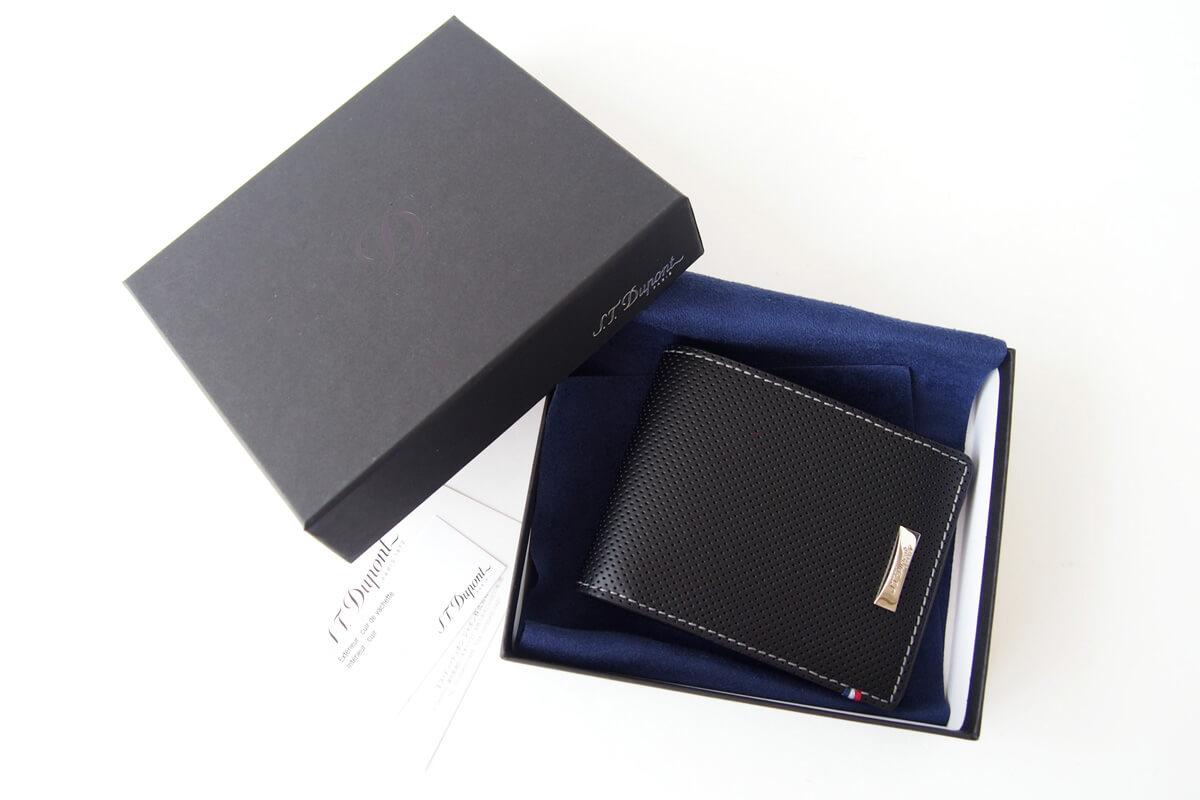 エス・テー・デュポン|S.T. Dupont|デフィ パンチングレザー二つ折り財布イメージ03