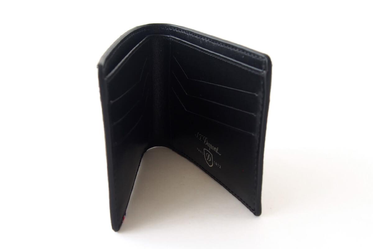 エス・テー・デュポン|S.T. Dupont|デフィ パンチングレザー二つ折り財布イメージ04