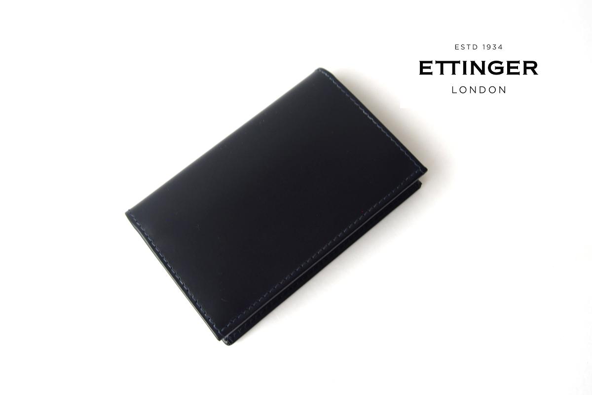 エッティンガー|ETTINGER|名刺入れ|カードケース|BH143C|ブライドルレザー|ネイビーイメージ01