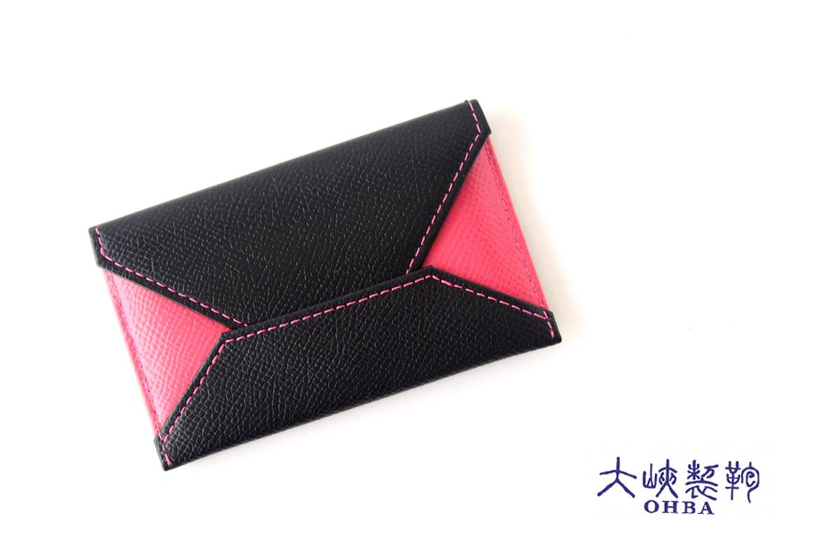 【中古】大峽製鞄|obaseiho|カードケース|ツートンカラー|封筒型イメージ01