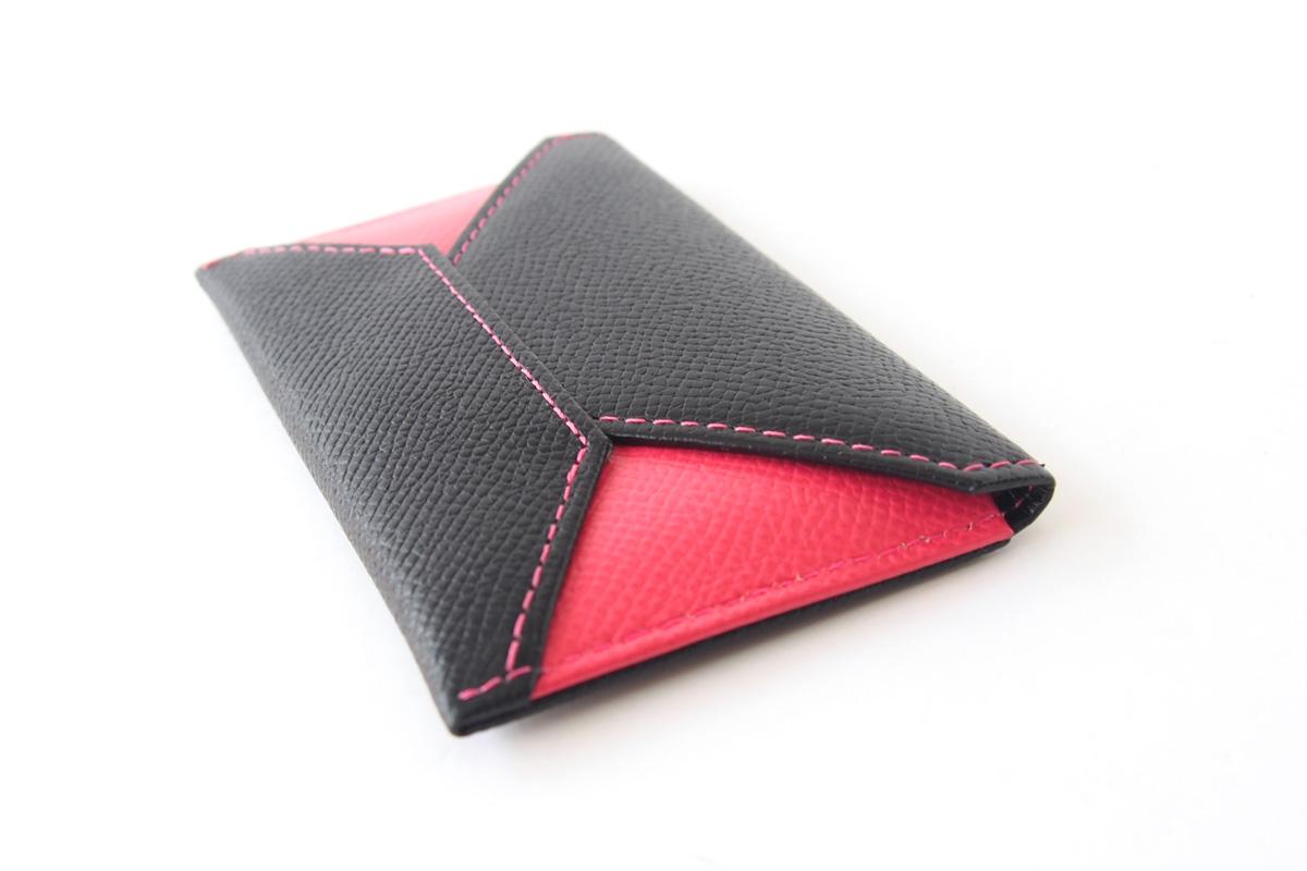 【中古】大峽製鞄|obaseiho|カードケース|ツートンカラー|封筒型イメージ05