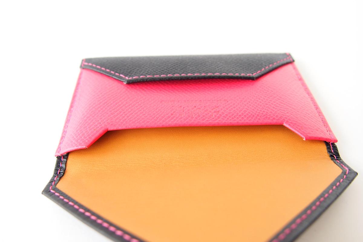 【中古】大峽製鞄|obaseiho|カードケース|ツートンカラー|封筒型イメージ09