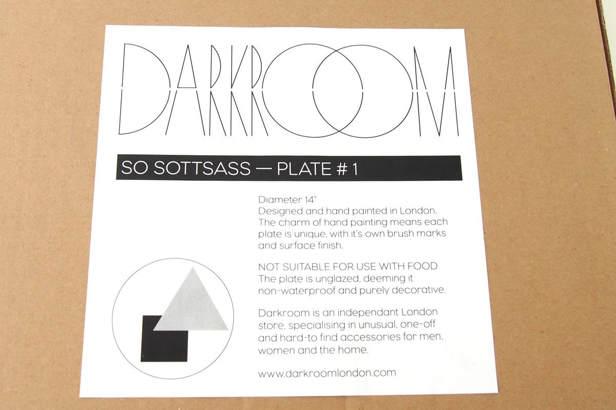ダークルーム ロンドン|DARKROOM LONDON|オーナメントプレート|飾り皿|デザイン|アート|SO SOTTSASS|PLATE#1イメージ0