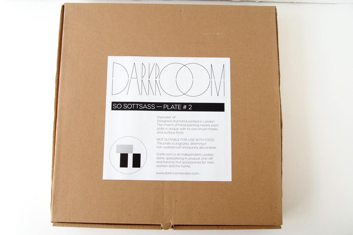 ダークルーム ロンドン DARKROOM LONDON オーナメントプレート 飾り皿 デザイン アート SO SOTTSASS PLATE#2イメージ02