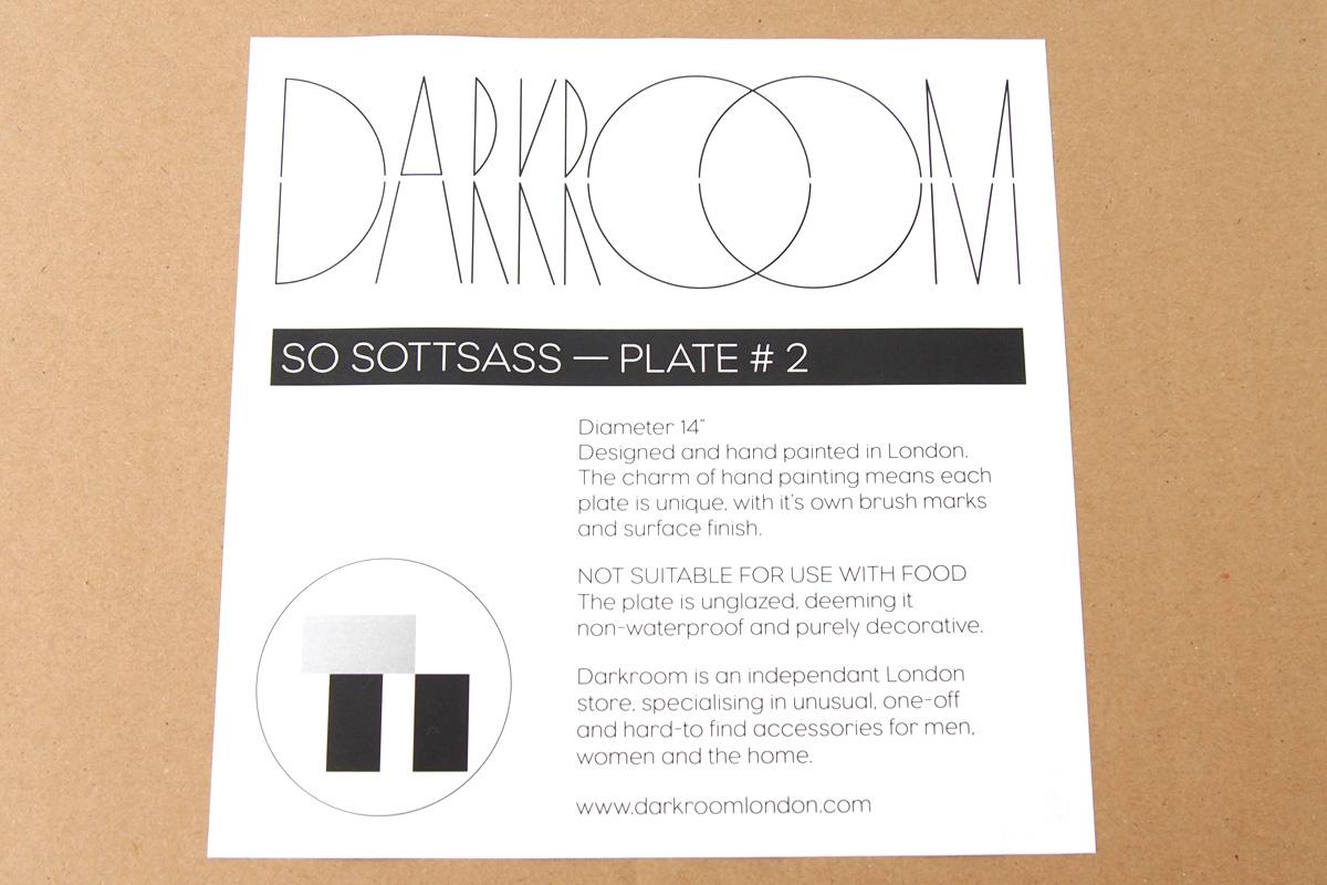 ダークルーム ロンドン DARKROOM LONDON オーナメントプレート 飾り皿 デザイン アート SO SOTTSASS PLATE#2イメージ03