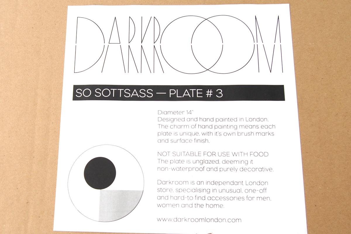ダークルーム ロンドン|DARKROOM LONDON|オーナメントプレート|飾り皿|デザイン|アート|SO SOTTSASS|PLATE#3イメージ03