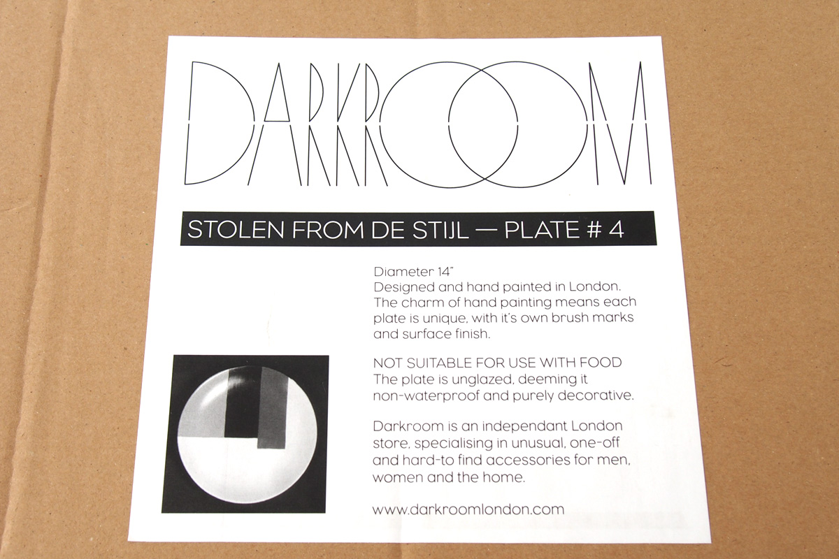 ダークルーム ロンドン|DARKROOM LONDON|オーナメントプレート|飾り皿|デザイン|アート|STOLEN FROM DE STIJL|PLATE#4イメージ04