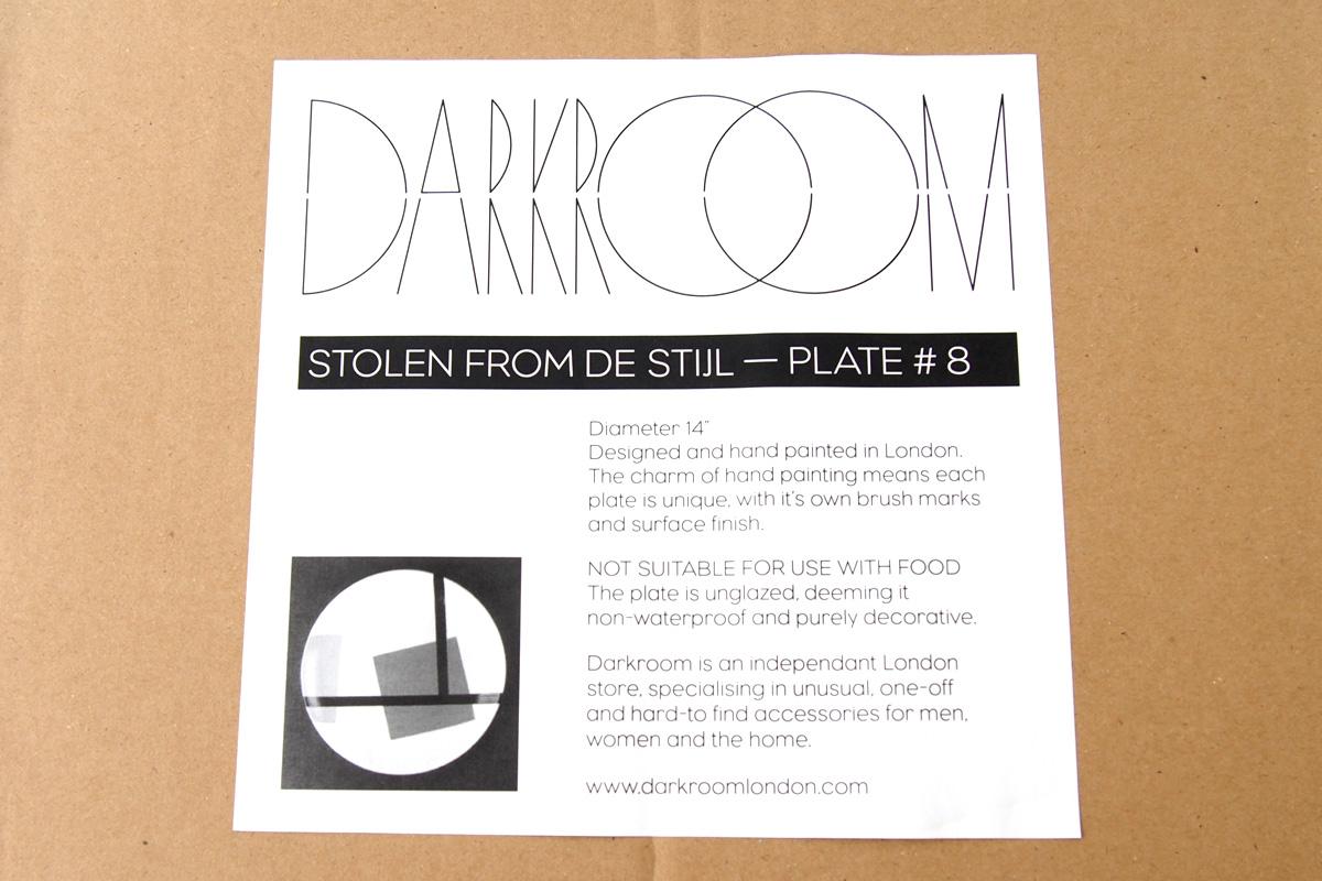 ダークルーム ロンドン|DARKROOM LONDON|オーナメントプレート|飾り皿|デザイン|アート|STOLEN FROM DE STIJL|PLATE#8イメージ04