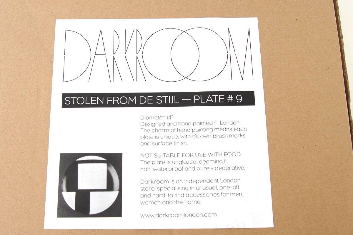 ダークルーム ロンドン DARKROOM LONDON オーナメントプレート 飾り皿 デザイン アート STOLEN FROM DE STIJL PLATE#9イメージ03