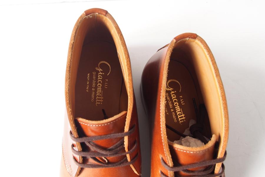 ジャコメッティ|F.lli Giacometti|FG295 グイディ社製ホースハイドレザーチャッカブーツ 38|ブラウンイメージ07