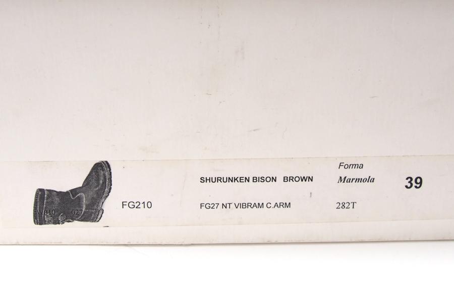 ジャコメッティ|F.lli Giacometti|マルモラーダ FG210 フリーザーマンブーツ 39|ブラウンイメージ09