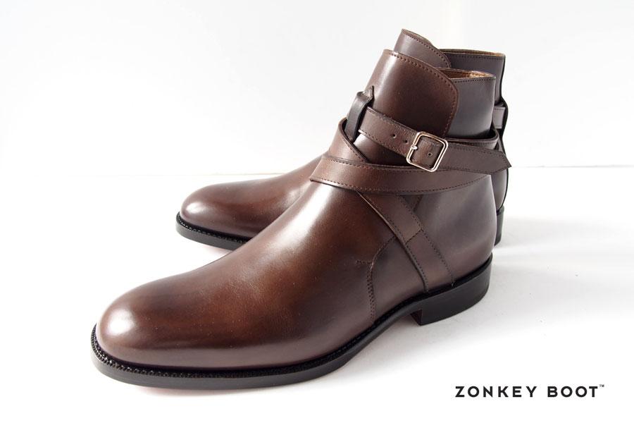 ゾンキーブーツ ZONKEY BOOT ジョッパーブーツ ZEROTHREEFOUR.JODHPUR 5.5 ブラウンイメージ02