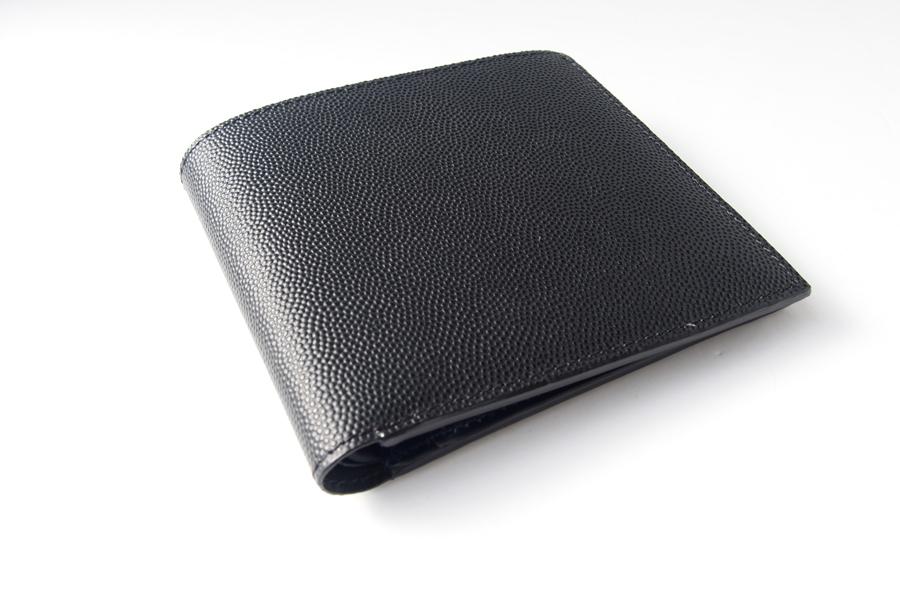 アラルディ|ARALDI 1930|キャビアレザー小銭入れ付き二つ折財布|ウォレット|NERO|ブラック|P351イメージ02