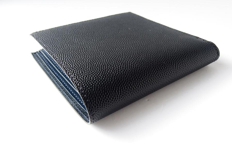 アラルディ|ARALDI 1930|キャビアレザー小銭入れ付き二つ折財布|ウォレット|NERO|ブラック|P351イメージ04