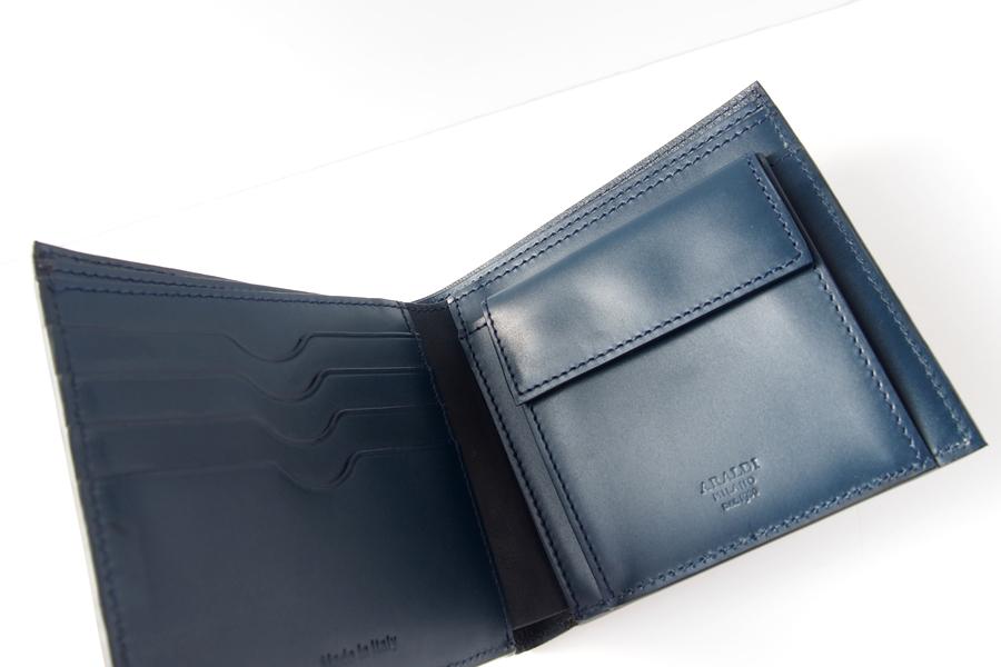 アラルディ|ARALDI 1930|キャビアレザー小銭入れ付き二つ折財布|ウォレット|NERO|ブラック|P351イメージ05