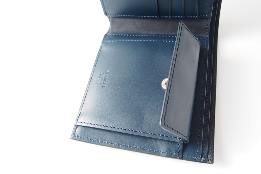 アラルディ|ARALDI 1930|キャビアレザー小銭入れ付き二つ折財布|ウォレット|NERO|ブラック|P351イメージ07
